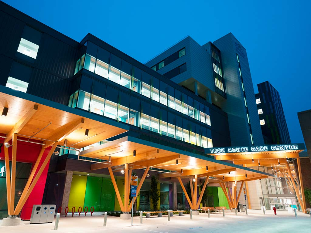 BC Children's Hospital Acute Care Centre Outside